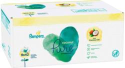 Pampers Lingettes humides Coconut 9 x 42 lingettes -