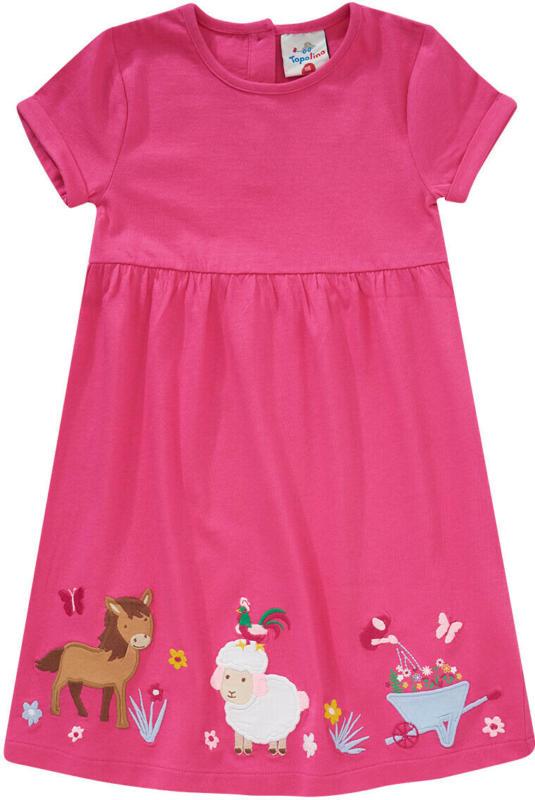 Mädchen Kleid mit tierischer Applikation (Nur online)