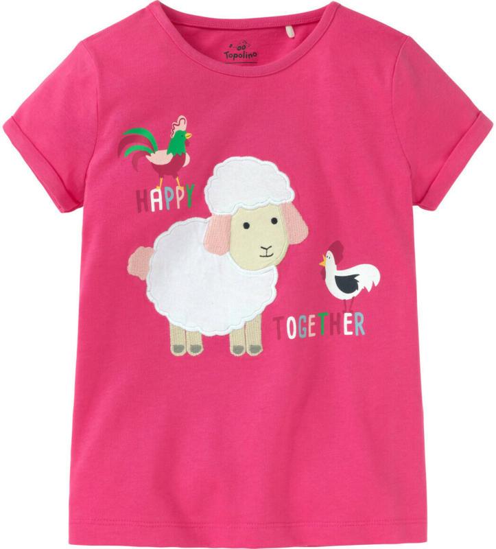 Mädchen T-Shirt mit Schaf-Applikation (Nur online)