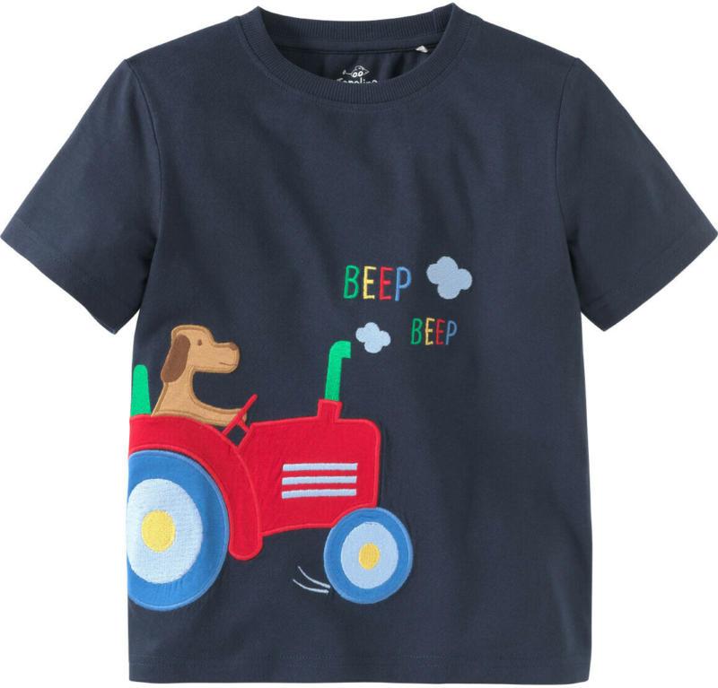 Jungen T-Shirt mit Trecker-Applikation (Nur online)