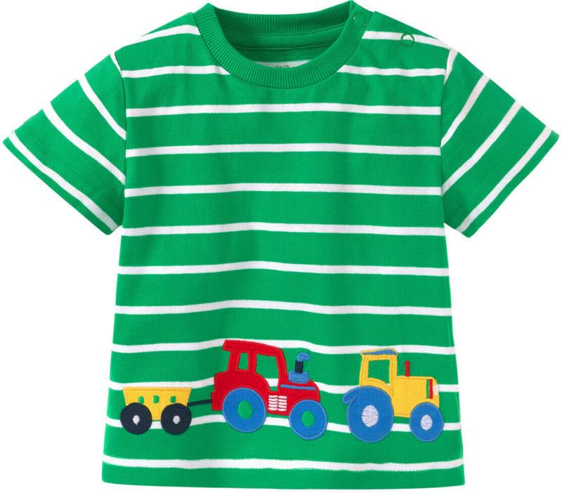 Baby T-Shirt mit Trecker-Applikation (Nur online)