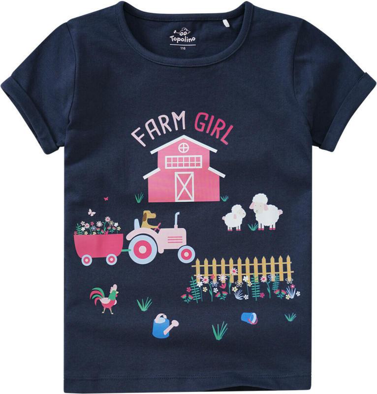 Mädchen T-Shirt mit großem Farm-Motiv (Nur online)