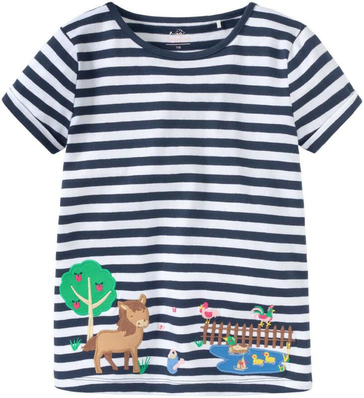 Mädchen T-Shirt im Ringel-Look (Nur online)