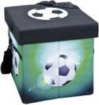 Möbelix Kühlbox 49 Liter Fußball mit Tragegurt, Grün/Schwarz