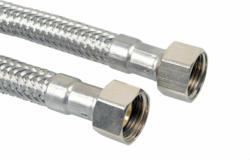 "Flex-Anschlussschlauch, 500 mm, 1/2"" 3/8"" 1/2&quot 3/8&quot | 0,087 kg"