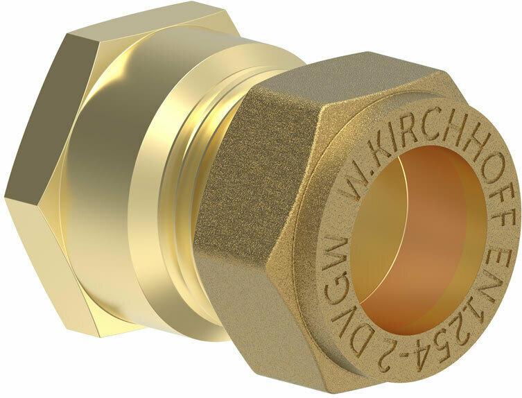 """Übergangsstück, 18 mm x 1/2"""", Klemmfitting für CU-Rohr"""