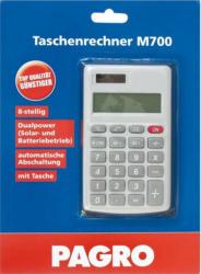PAGRO Taschenrechner M700 Dualpower silber