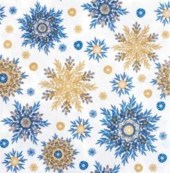 """Servietten """"Schneeflocken"""" 20 Stück 3-lagig 33 x 33 cm weiß/blau"""