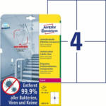 "Pagro AVERY Zweckform Antivirus Etiketten 10 Bl. ""L8013-10"" 105 x 148 mm transparent"