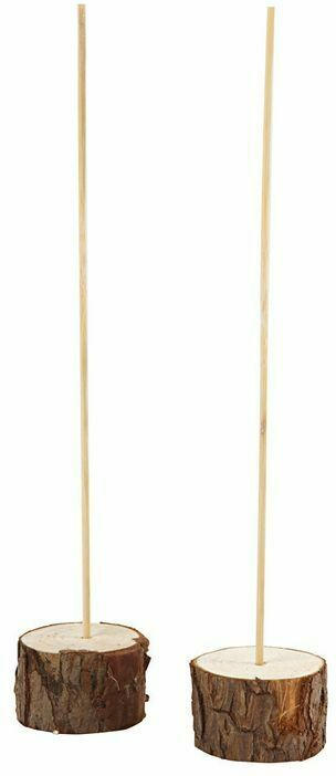 Standfuß-Set aus Holz 25 cm 2 Stück natur