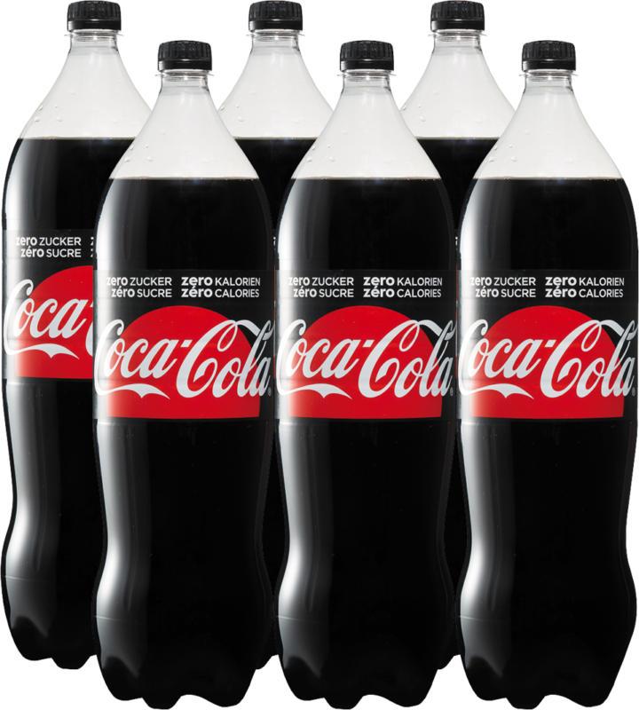 Coca-Cola Zero, 6 x 2 litres