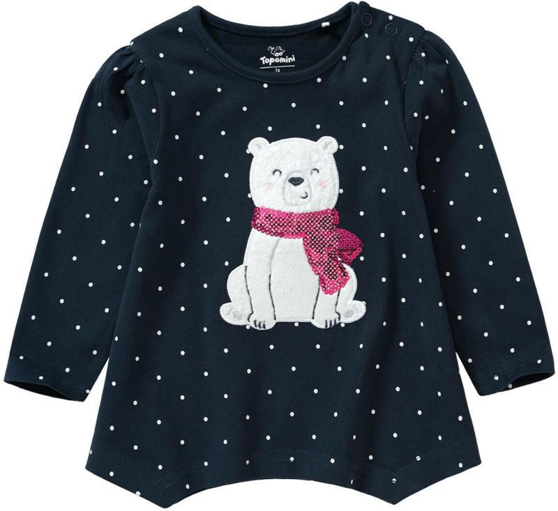Baby Langarmshirt mit Eisbär-Applikation (Nur online)