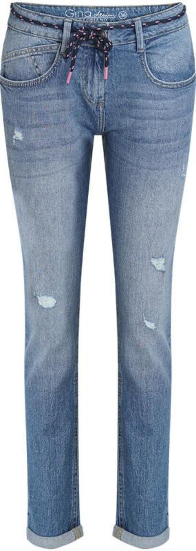Damen Boyfriend-Jeans mit Used-Waschung (Nur online)