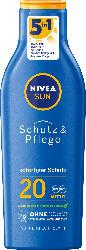 NIVEA SUN Sonnenmilch Schutz & Pflege LSF 20