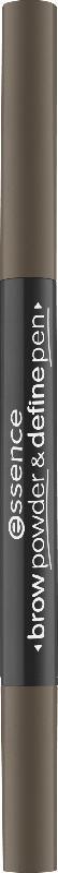 essence cosmetics Augenbrauenstift brow powder & define pen cool dark brown 03