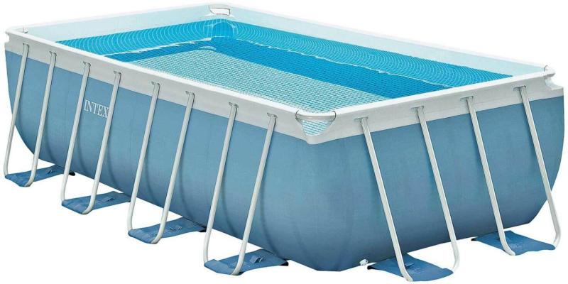 INTEX Schwimmbad komplett mit Leiter und Pumpe -