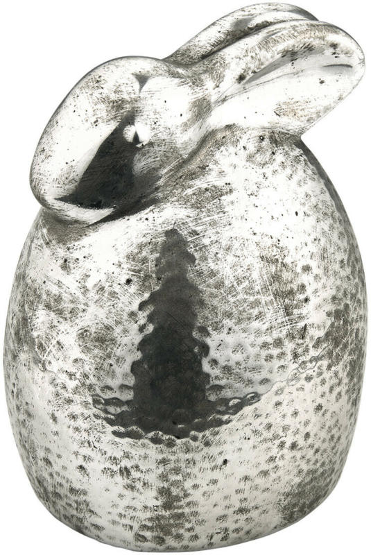 Großer Deko-Hase mit Hammerschlag (Nur online)