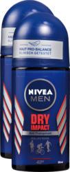 Deodorante roll-on Nivea, Dry Impact for Men, 2 x 50 ml
