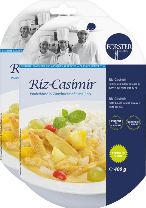 Plat cuisiné Forster, Riz Casimir, 2 x 400 g