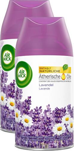 Air Wick Duftspray Freshmatic Max, Lavendel, Nachfüller, 2 x 250 ml