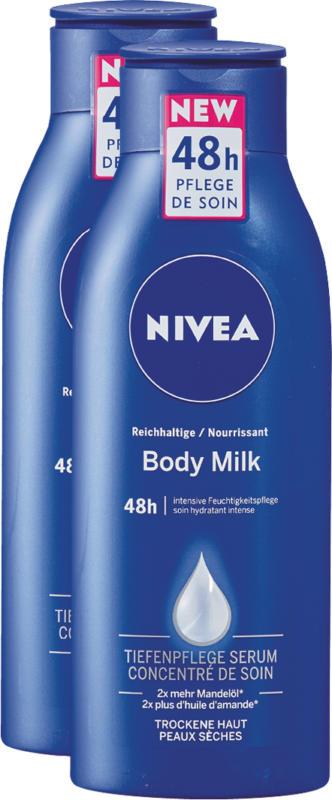 Lait pour le corps nourrissant Nivea, 2 x 400 ml