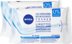 Nivea Reinigungstücher 3 in 1, 2 x 25 salviettine