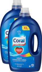 Lessive liquide Optimal Color Coral, 2 x 50 lessives, 2 x 2,5 litres