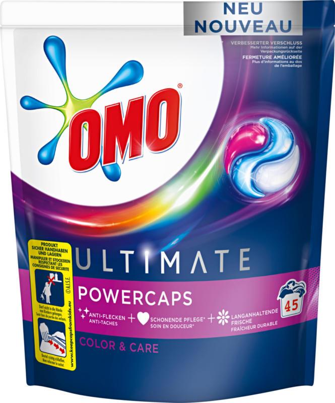 Omo Waschmittel Power Caps Ultimate Color & Care, 45 Waschgänge, 45 Stück