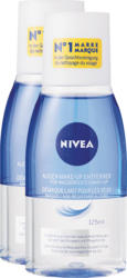 Nivea Augen-Make-up-Entferner, für wasserfestes Make-up, 2 x 125 ml