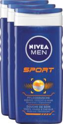 Doccia trattante Nivea, Men Sport, 3 x 250 ml