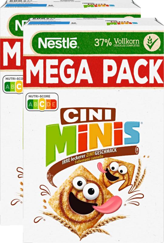 Céréales Nestlé, Cini Minis, 2 x 500 g