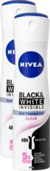 Nivea Deo Spray Invisible for Black & White, 2 x 150 ml