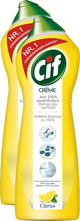 Cif Reinigungsmittel Crème Citrus, 2 x 750 ml