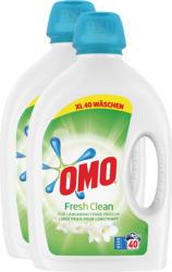 Omo Flüssigwaschmittel Fresh Clean, 2 x 40 Waschgänge, 2 x 2 Liter