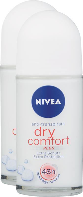 Deodorante roll-on Nivea, Dry Comfort, 2 x 50 ml