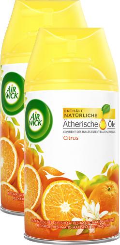 Air Wick Duftspray Freshmatic Max, Citrus, Nachfüller, 2 x 250 ml