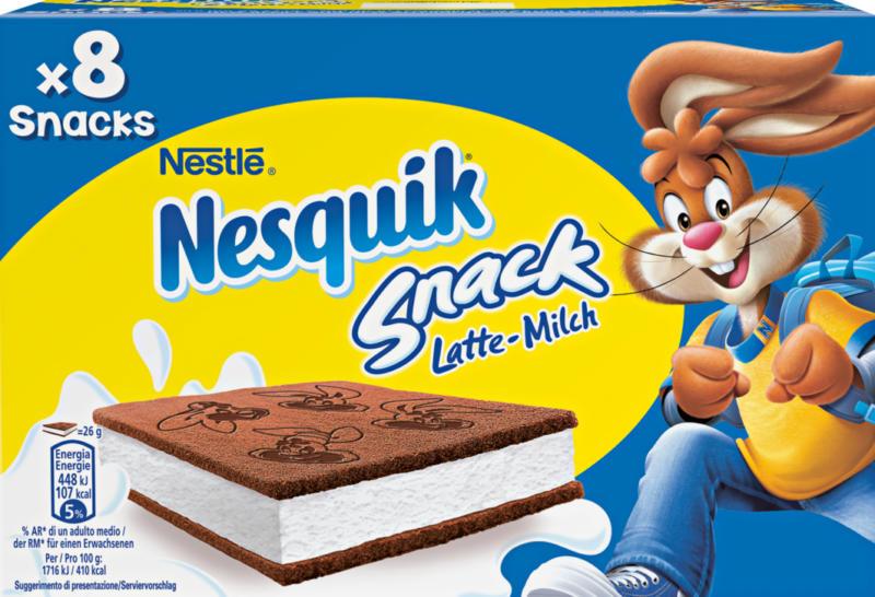 Nesquik Snack Nestlé, Lait, 8 x 26 g