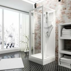 Schulte Duschkabine Juist mit Schiebetür Weiß 210 cm x 80 cm