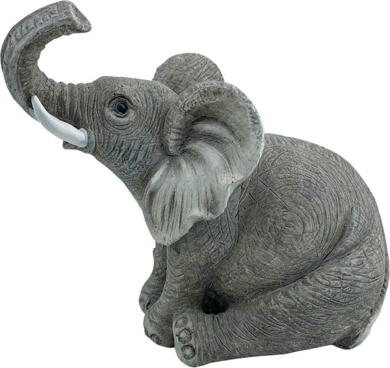 Deko-Figur Elefant 9.5 x 6 x 14 cm -