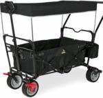 BayWa Bau- & Gartenmärkte Klappbollerwagen Paxi dlx Comfort mit Bremse, schwarz Schwarz