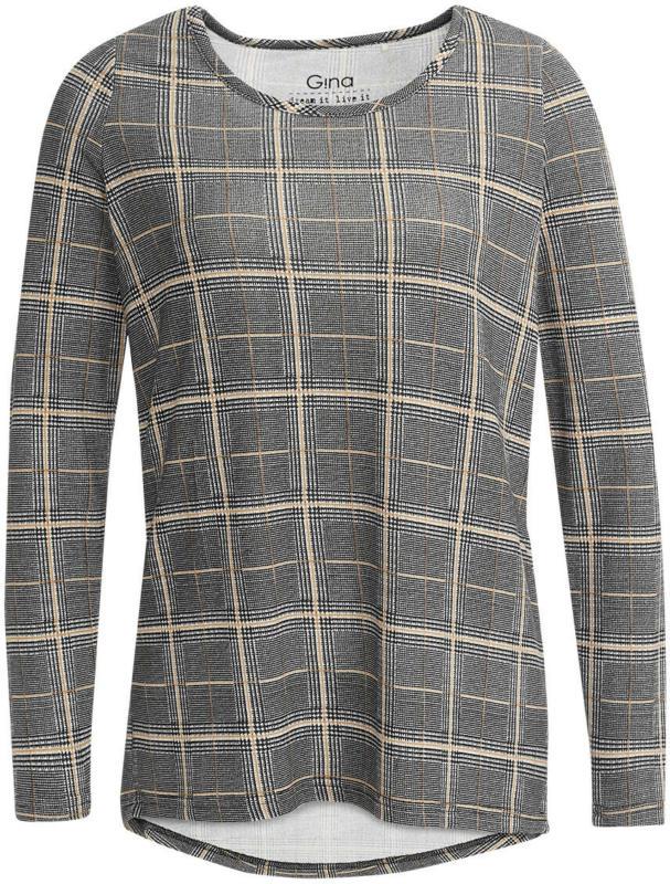 Damen Langarmshirt mit Allover-Muster (Nur online)