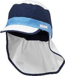 PUSBLU Kinder Schildmütze, Gr. 52/53, in Baumwolle, blau, weiß