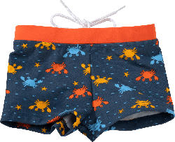 PUSBLU Kinder Badehose, Gr. 74, blau, orange