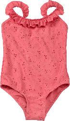 PUSBLU Kinder Badeanzug, Gr. 122/128, pink