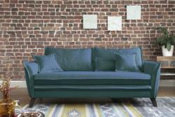 Dreisitzer-Sofa in Türkis ´CHARMING CHARLIE´