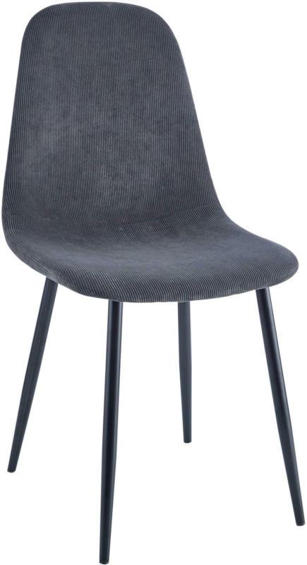 Stuhl aus Kord in Grau/Schwarz