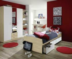 Jugendzimmer in Weiß/S.  Eiche ´POINT'