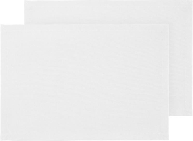 Tischset Steffi in Weiss ca. 33x45cm, 2er-Set