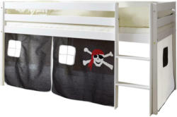 Spielbett 'Malte', aus Kiefer, schwarz/weiß