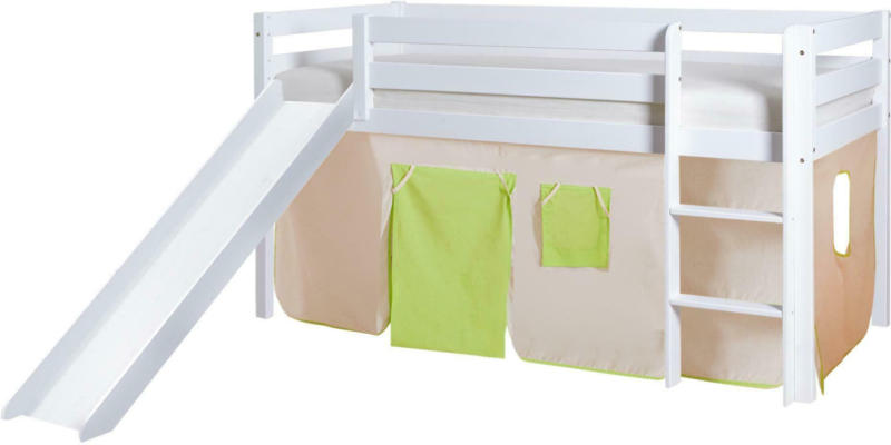 Spielbett 'Manuel',aus Kiefer, grün/weiß/beige